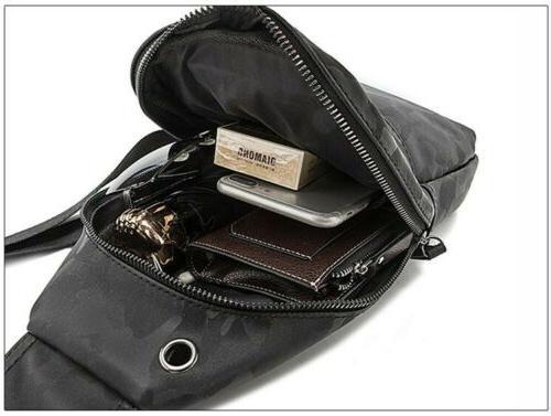 Men's Chest Pack Sling Shoulder Bag Daypack Backpack