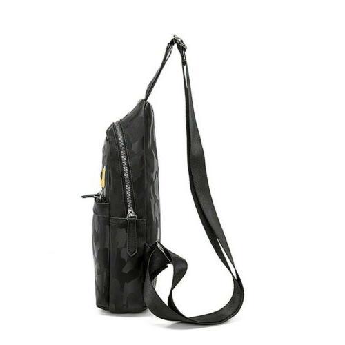 Men's Pack Sling Crossbody Shoulder Bag Daypack Backpack