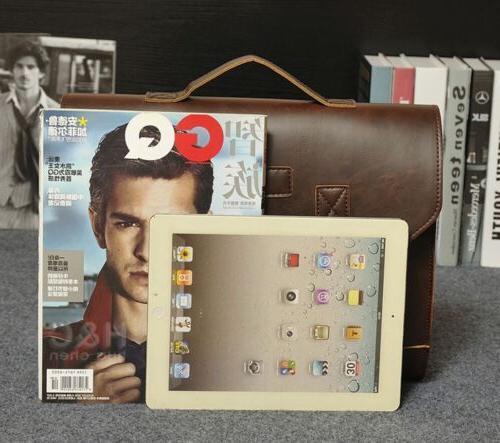 Men's PU Leather Briefcase Laptop Shoulder Bag