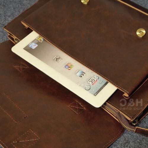 Men's Leather Laptop Bag Bag Case