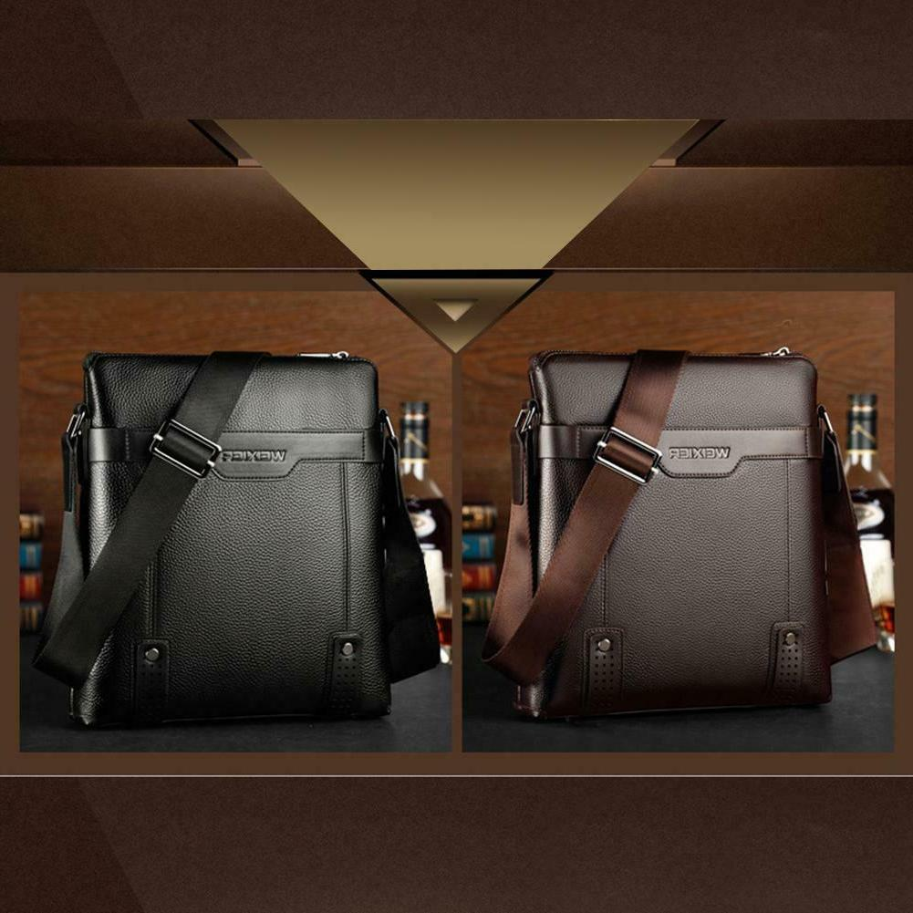 Men PU Messenger Business Shoulder Bags