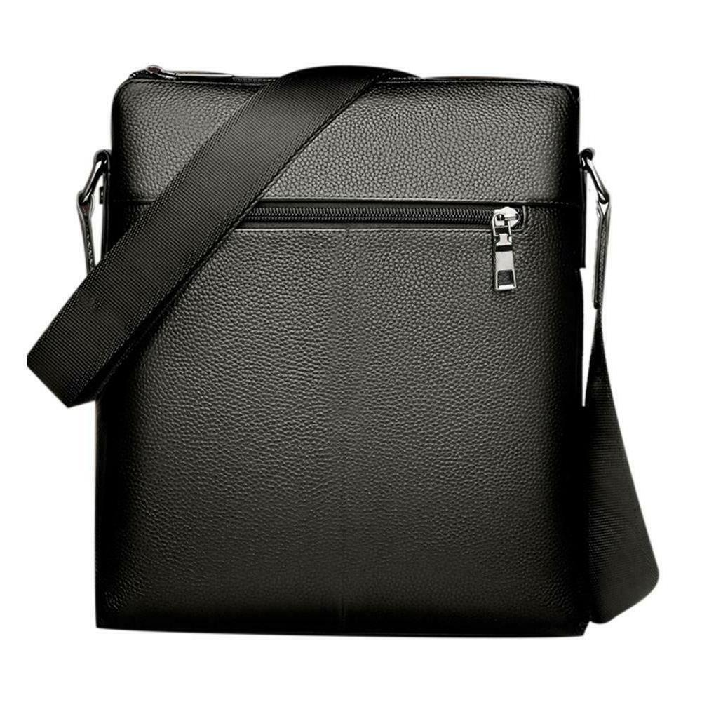 Men PU Soft Messenger Bag Crossbody Business Shoulder Bags