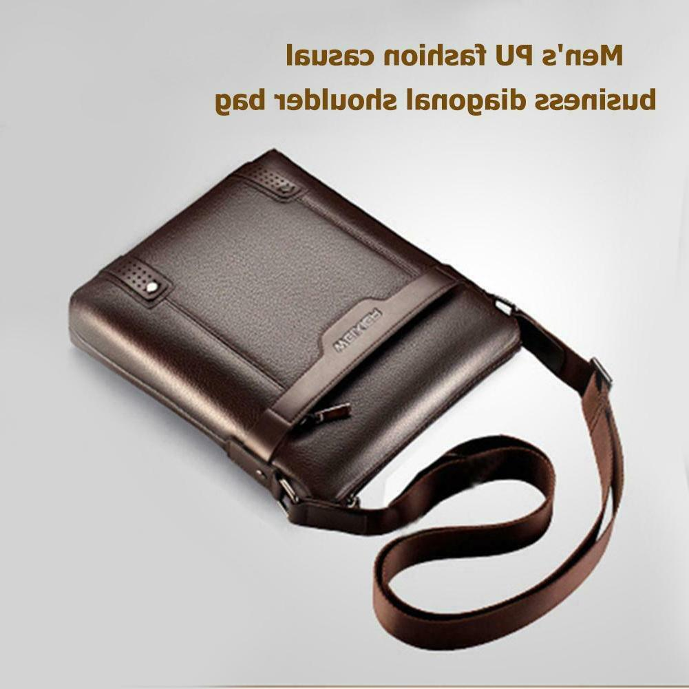 Men Leather Messenger Business Handbag