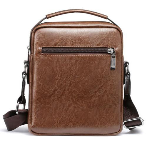 Men's Soft Satchel Cross Body Tote Handbag Shoulder
