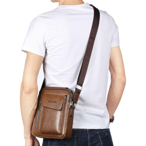 Men's Soft Leather Satchel Bags Cross Tote