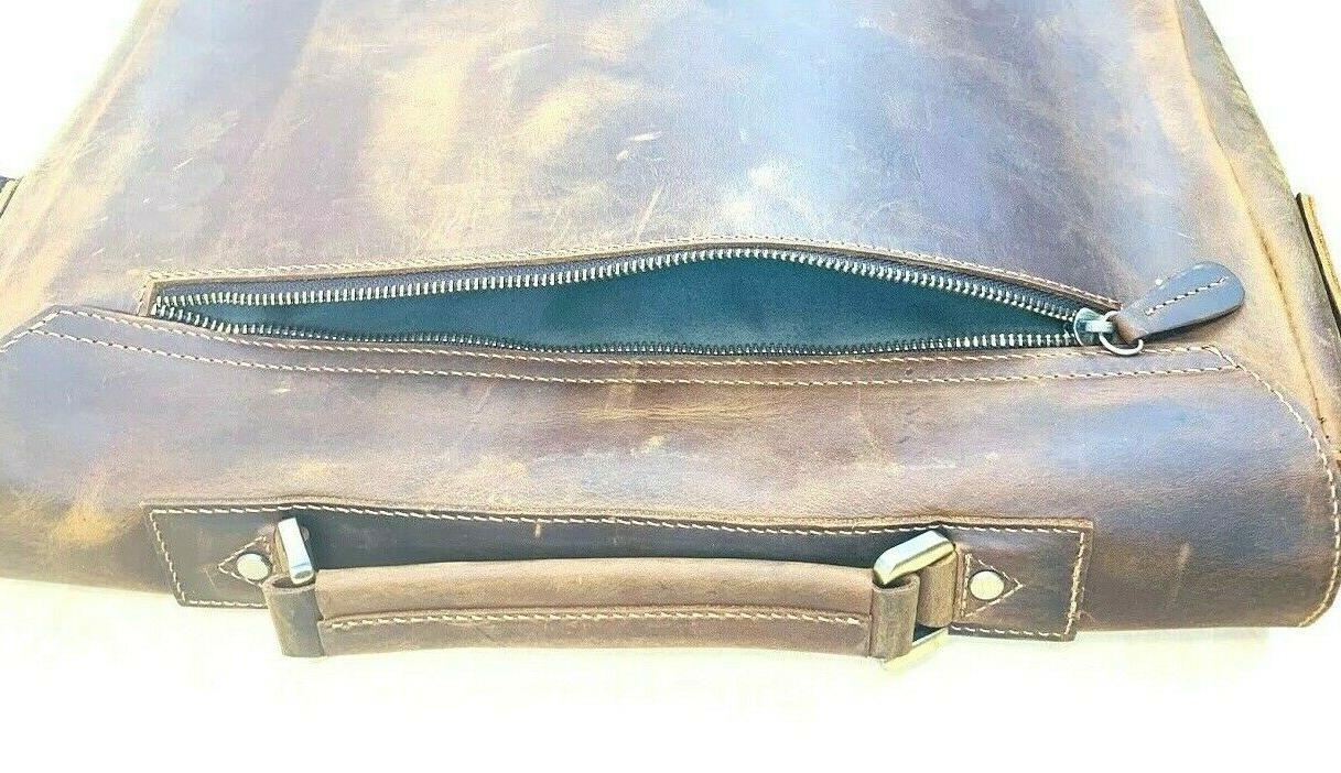 KATTEE Genuine Leather Bag 16 Laptop Free Shipping