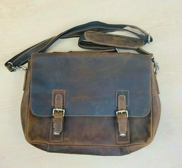 men s vintage genuine leather messenger bag