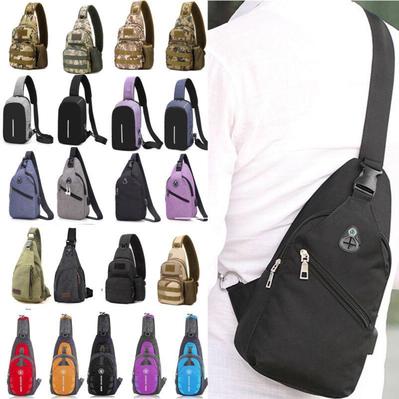 men sling chest bags crossbody messenger shoulder