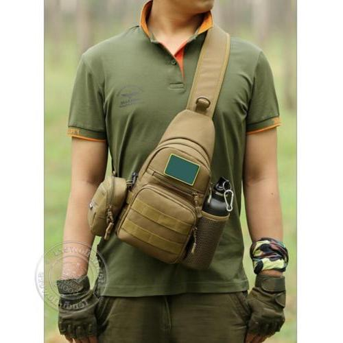 Men Backpack Molle Sling Bag Pack Shoulder