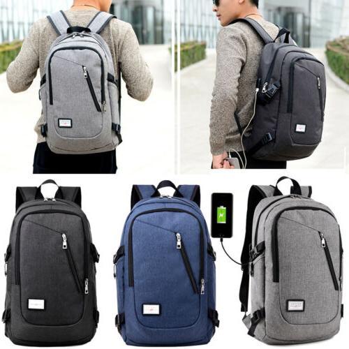 Men Backpack Satchel School Messenger Bag Retro