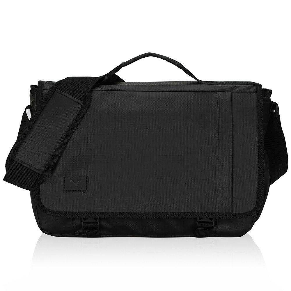 Hynes Eagle 15.6'' Laptop Messenger Bag Mens Large Satchel B