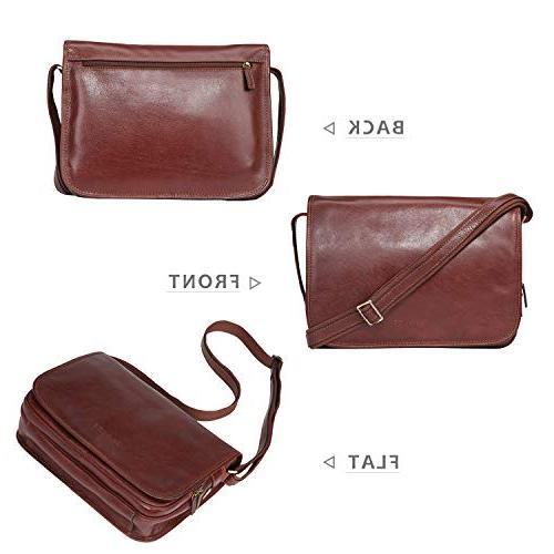 Italian for Men Briefcase a4 Satchel Work Bag Organizer
