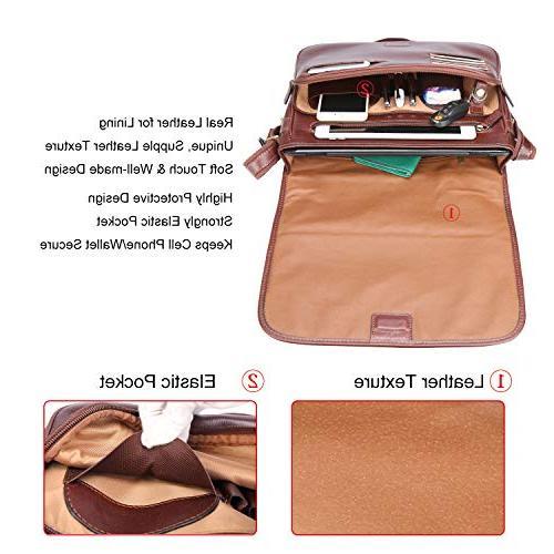 Banuce Italian Messenger Bag for Men Shoulder Crossbody Briefcase a4 Work