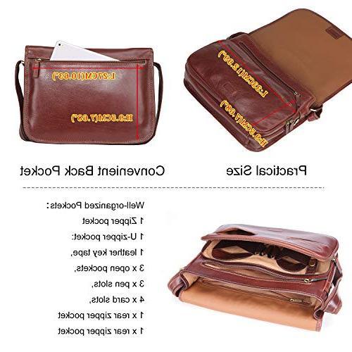 Banuce Vintage Full Italian Leather Messenger Bag for Briefcase Work Bag