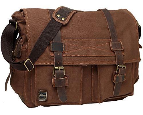 Canvas Messenger Bag for 17.3inch