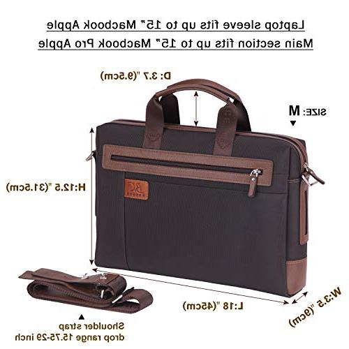 Banuce 15 Tablet Oxford Waterproof Business Messenger Briefcase for Slim Attache Case