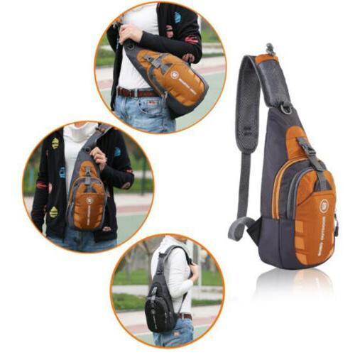 Mens Womens Shoulder Chest Bag Crossbody Travel Bag