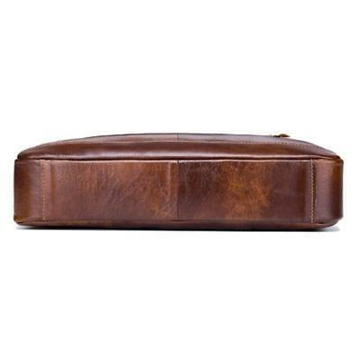 Mens Business Genuine Leather Briefcase Handbag Messenger Bag