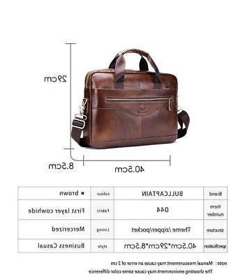 Mens Business Genuine Briefcase Handbag Shoulder Messenger