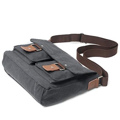 Peacechaos Mens DSLR Messenger Bag Grey