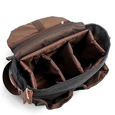 Peacechaos Mens DSLR SLR Messenger Bag Dark