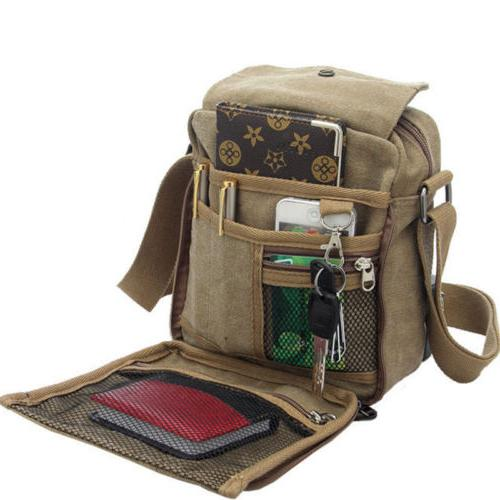 Mens Canvas Bag Hiking Cross body