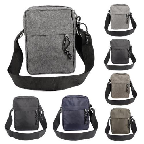 Mens Gents Waterproof Shoulder Bag Cross Body Messenger Trav