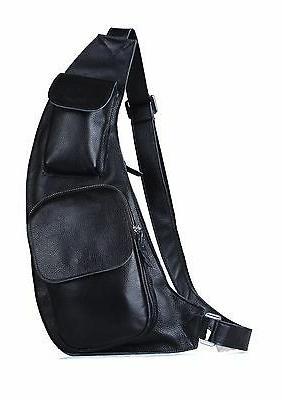 Mens Leather Bag Shoulder Satchel