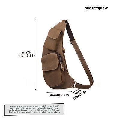 Mens Genuine Leather Bag Backpack Messenger Shoulder Satchel