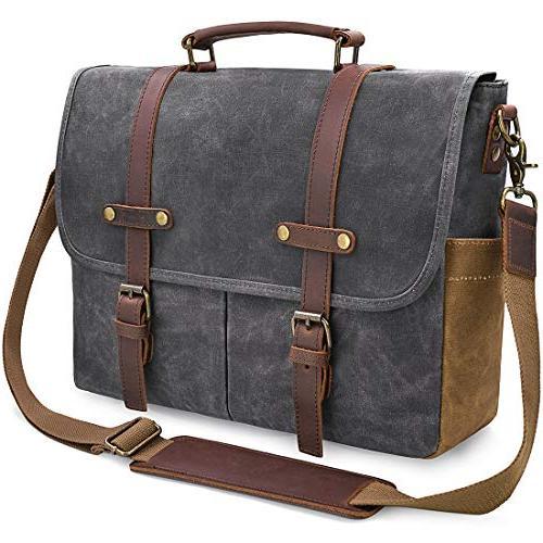 bd94825d8c Mens Messenger Bag 15.6 inch Waterproof Vintage Genuine