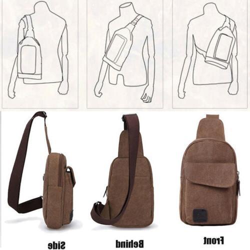 Mens Molle Chest Bag Messenger Shoulder