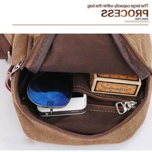 Mens Molle Tactical Sling Chest Assault Messenger Backpack