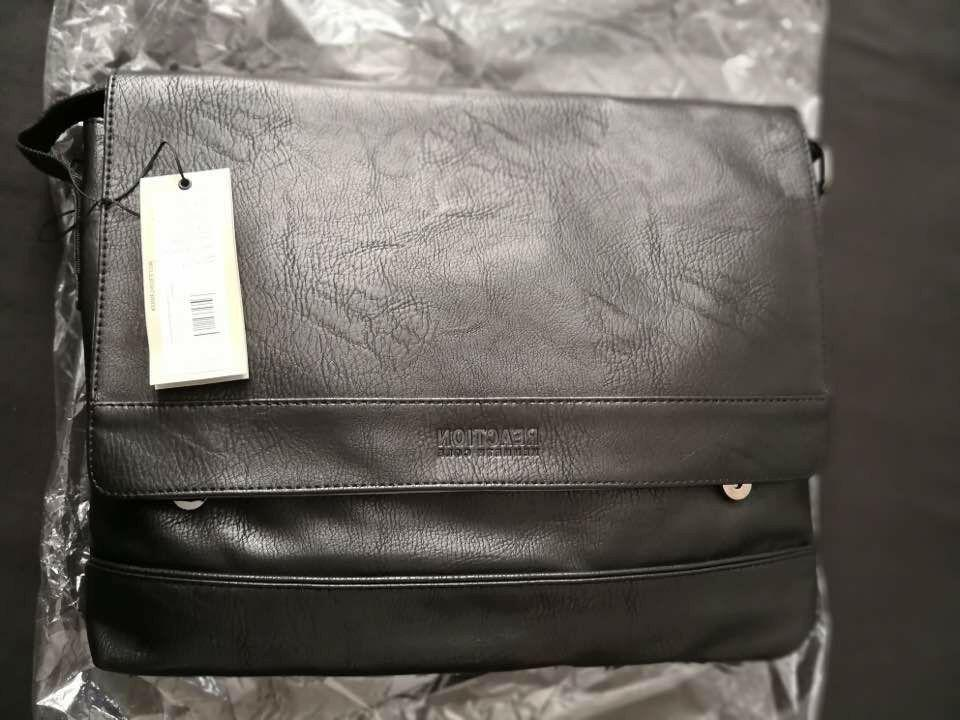 Kenneth Cole Reaction Men's Pebbled Messenger Laptop Bag_N