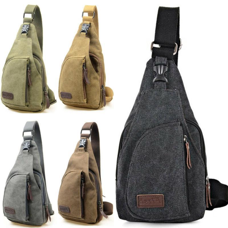 Mens Vintage Bag Military Shoulder