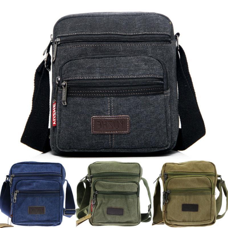 Mens Vintage Crossbody Messenger Bag Sling Chest Bag Military Shoulder Satchel