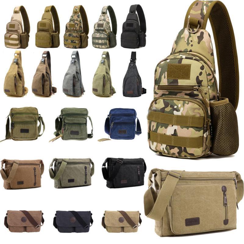 mens vintage crossbody messenger bag sling chest