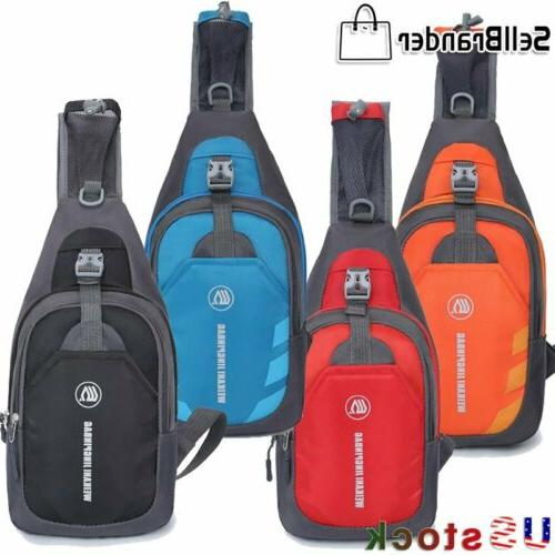 mens women chest pack travel sport sling