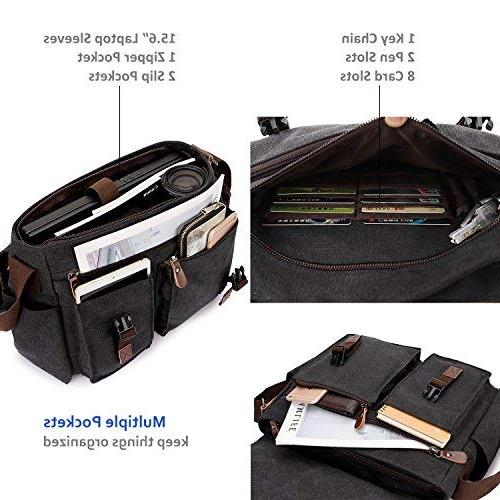 Messenger Bag for Men,Water Resistant 17 Laptop Briefcases Business RAVUO