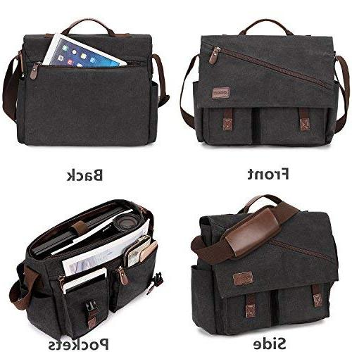 Messenger Resistant 15.6 17 Inch Briefcases Business Shoulder by