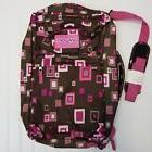 JanSport Messenger Bag Backpack Travel Laptop Pink Brown Poc