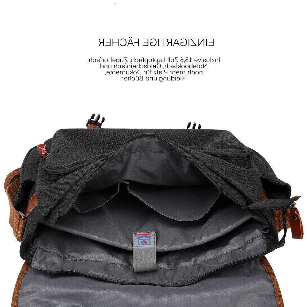 CoolBELL Messenger Bag Briefcase Vintage Case Handbag