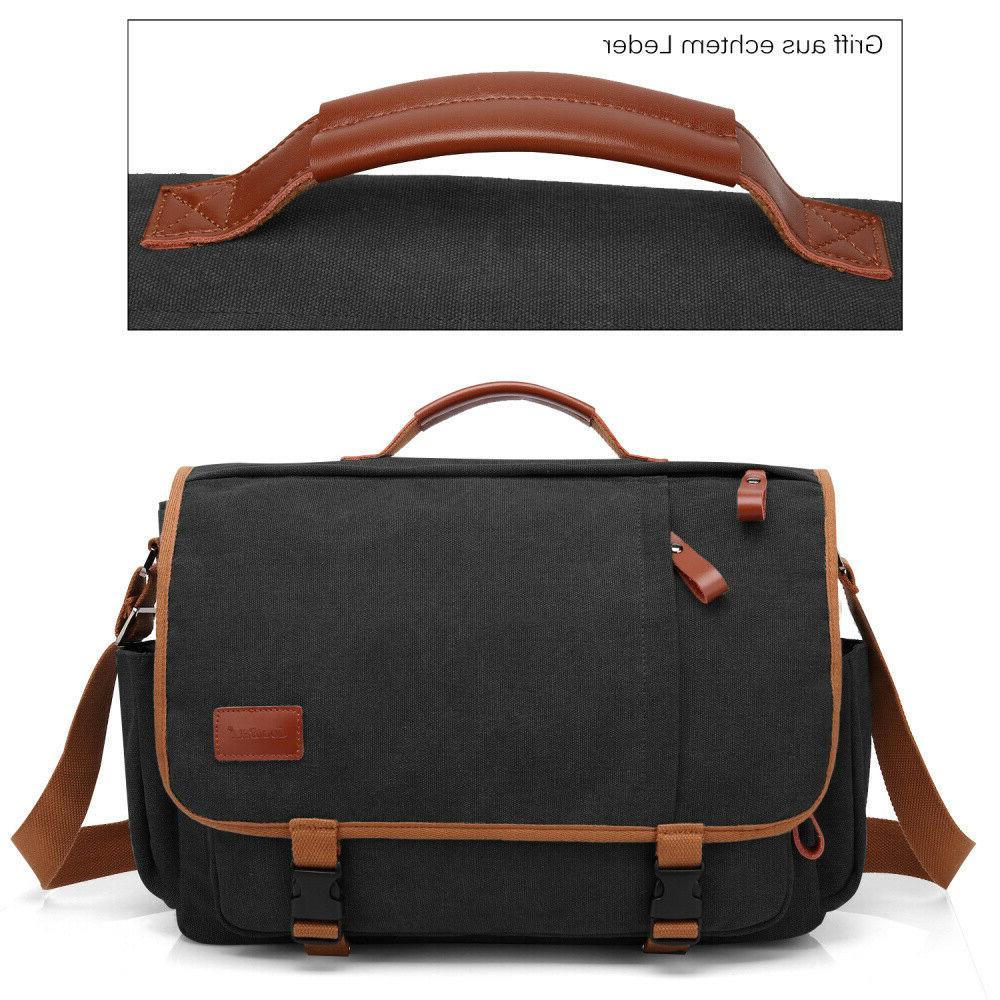 CoolBELL Bag Canvas Briefcase Shoulder Bag Case Mens Handbag