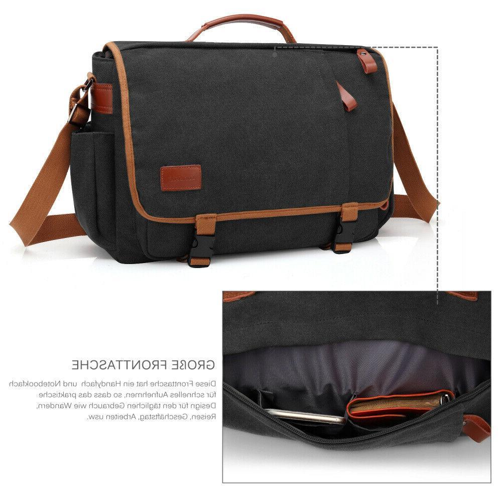 CoolBELL Messenger Briefcase Vintage Shoulder Case Mens