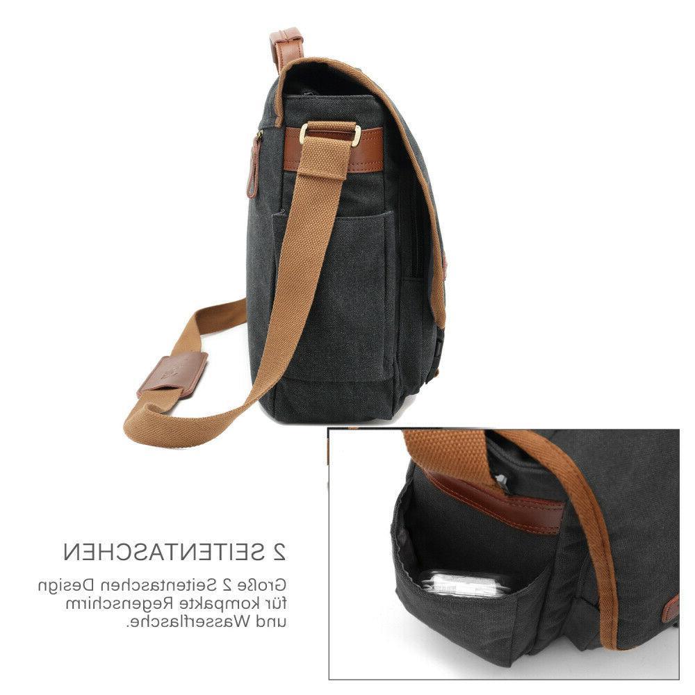 CoolBELL Messenger Canvas Briefcase Vintage Shoulder Bag Case Handbag