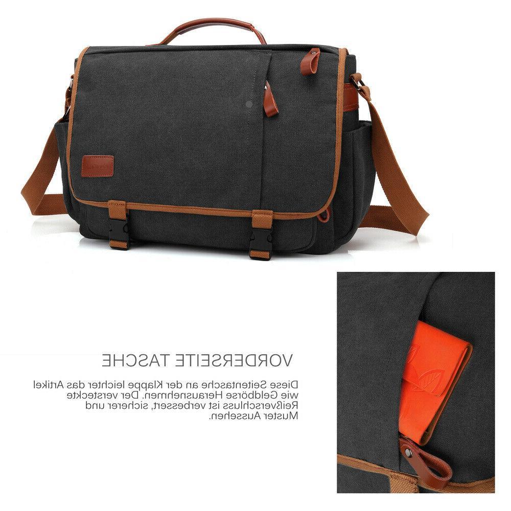 CoolBELL Messenger Bag Briefcase Shoulder Bag Case Mens Handbag