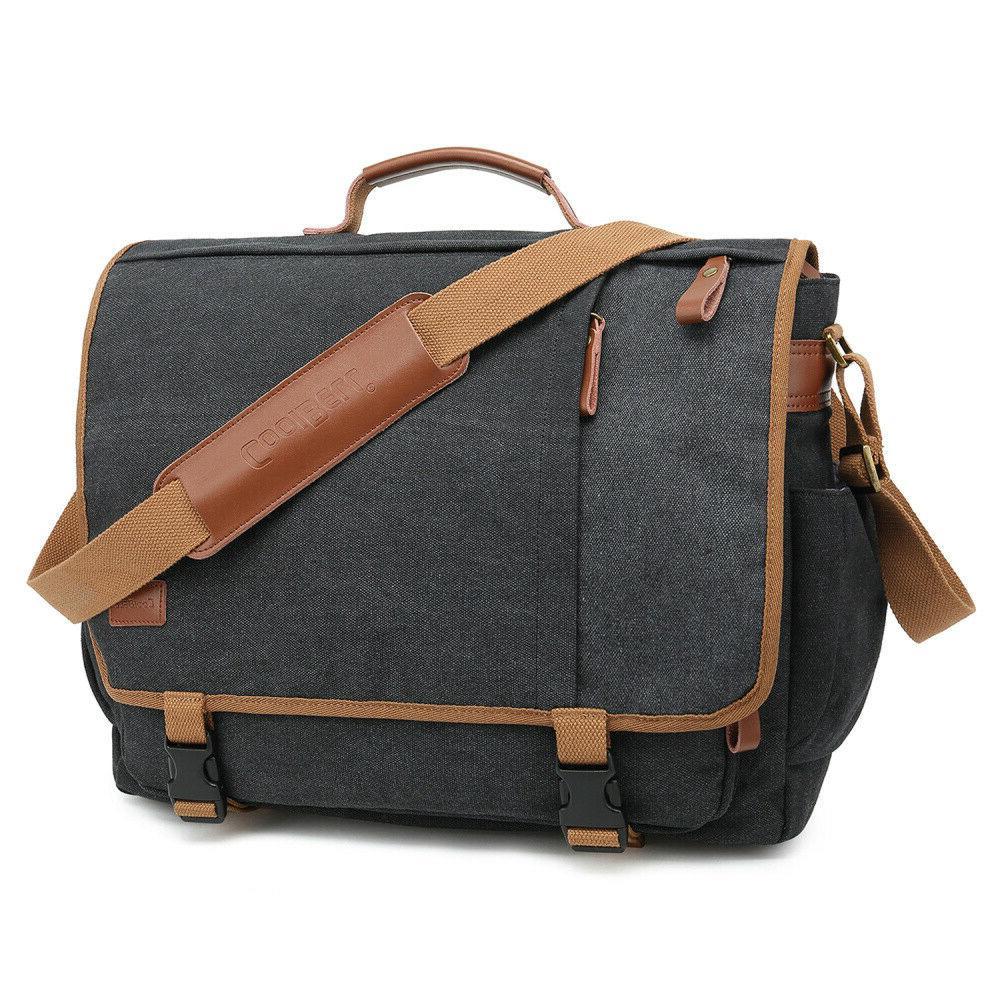 messenger bag canvas briefcase vintage shoulder bag
