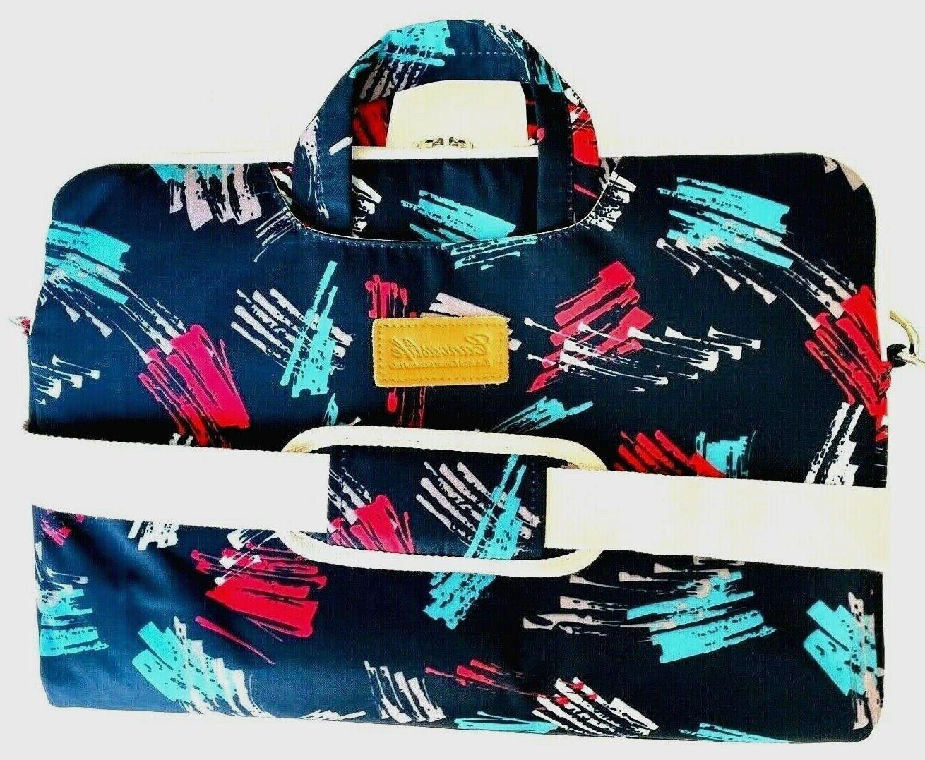 Canvaslife waterproof padded zip blue geometric 16x11