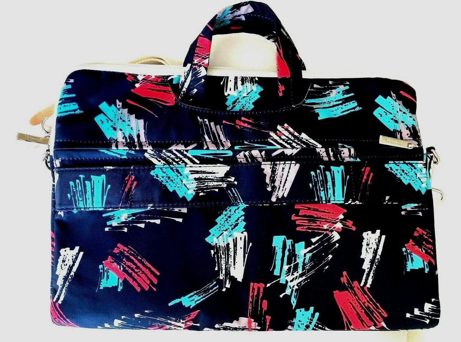 Canvaslife waterproof zip blue geometric 16x11