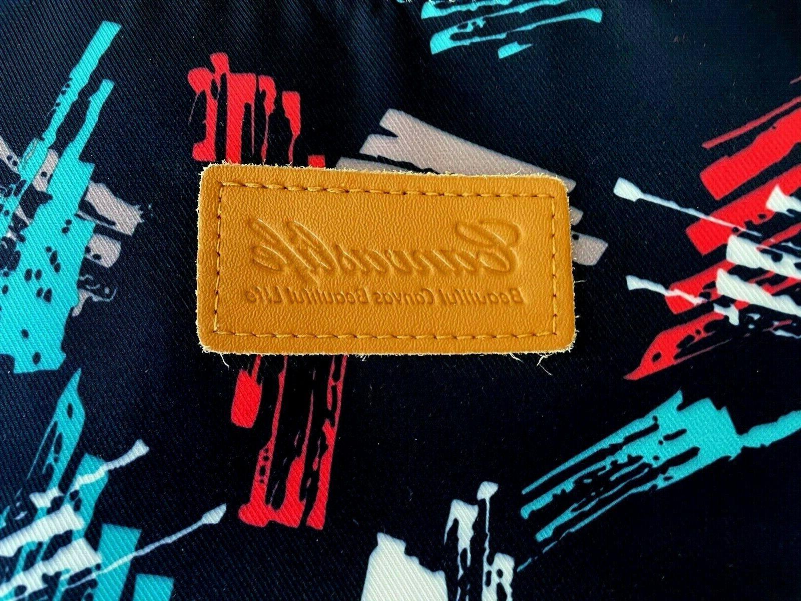 messenger bag laptop waterproof padded zip blue