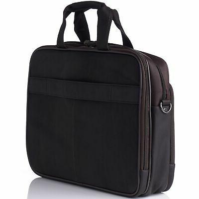 Alpine Leather 15.6 Laptop Portfolio Business Case